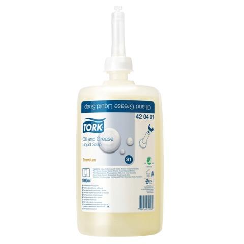 Картридж с жидким мылом-очистителем одноразовый TORK (S1) Premium, 1 л, диспенсеры 601669, 600293, 420401