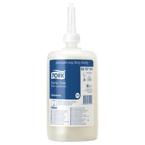 Картридж с жидким мылом-спреем одноразовый TORK (S11), ультрамягкое, 1 л, диспенсер 600293, 601668, 620701