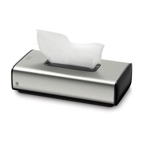 Диспенсер для косметических салфеток TORK (F1) Image Design, настольный, металлический, салфетки 127839, 126560
