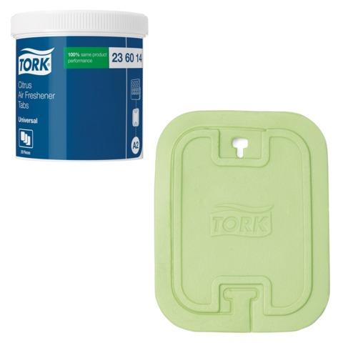 Освежитель воздуха твердый TORK (А2) Premium, комплект 20 шт., цитрусовый, диспенсер 602974