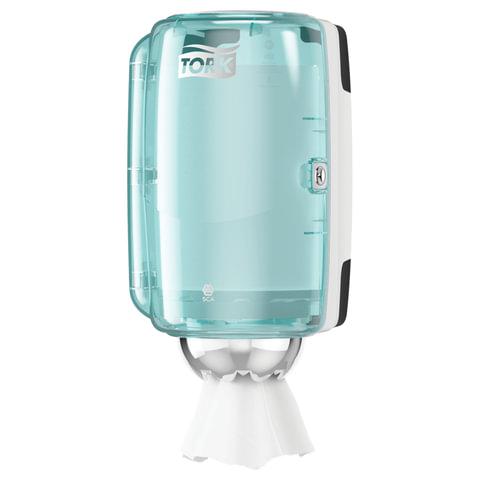 Диспенсер для полотенец TORK (M1) Performance, mini, с центральной вытяжкой, голубой, полотенца 124559-560