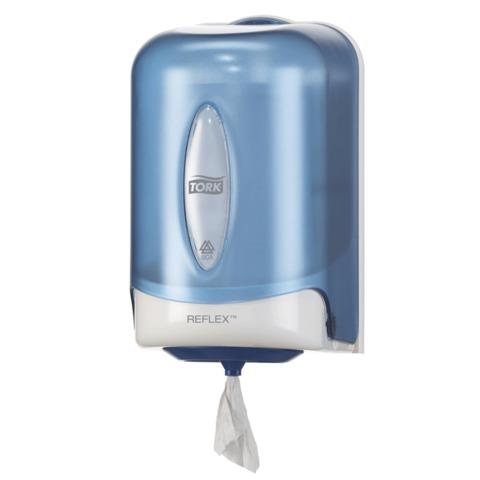 Диспенсер для полотенец TORK (Система M3) Reflex, mini, с центральной вытяжкой, голубой, 473137