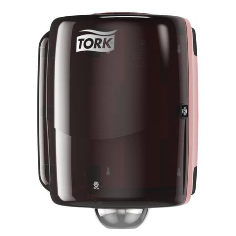 Диспенсер для протирочной бумаги TORK (W2) Performance, maxi, с центральной вытяжкой, черный, полотенце 127851-853, 653008
