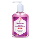 Мыло жидкое дезинфицирующее, 250 мл, SANIPONE «Soft» (САНИПОН «Софт»),С дозатор