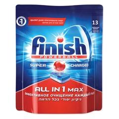 Средство для мытья посуды в посудомоечных машинах 13 шт., FINISH (Финиш) «All in 1», таблетки