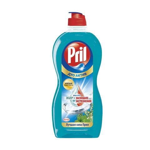 Средство для мытья посуды 450 мл, PRIL (Прил) Дуо Актив, «Свежие травы и мята»