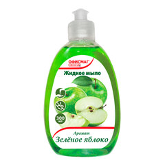Мыло жидкое 300 мл, ОФИСМАГ, «Зеленое яблоко», пуш-пул
