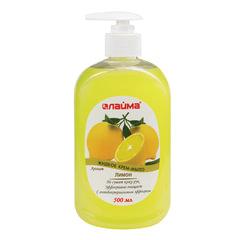 Мыло-крем жидкое 500 мл, ЛАЙМА «Лимон», с антибактериальным эффектом, дозатор