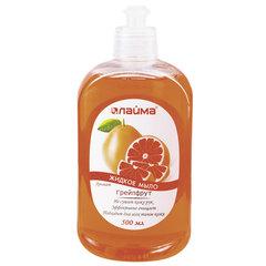 Мыло жидкое 500 мл, ЛАЙМА «Грейпфрут», пуш-пул