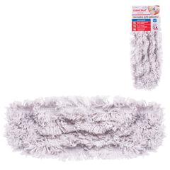 Насадка МОП для швабры ОФИСМАГ «Стандарт», карманы, 40×10 см, хлопок, ворс 4,5 см, для сухой и влажной уборки