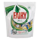 Средство для мытья посуды в посудомоечных машинах 26 шт., FAIRY (Фейри), «All in 1», капсулы