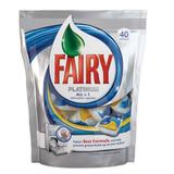 Средство для мытья посуды в посудомоечных машинах 40 шт., FAIRY Platinum (Фейри Платинум), «All in 1», капсулы