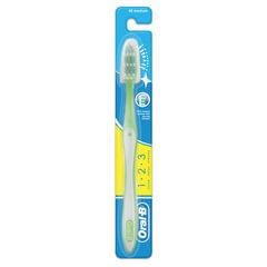 Зубная щетка ORAL-B (Орал-Би) 1-2-3 «Чистота-Свежесть-Сила», средняя