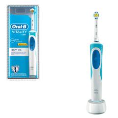 Зубная щетка электрическая ORAL-B (Орал-би) Vitality 3D White D12.513, «Отбеливающая», блистер
