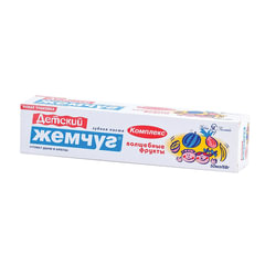 Зубная паста детская 50 мл, ДЕТСКИЙ ЖЕМЧУГ «Волшебные фрукты», защита от кариеса, укрепляющая