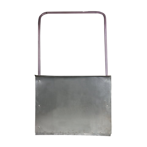 Лопата-скребок (скрепер), оцинкованная сталь 0,8 мм, 75х55 см, высота 120см, с металической ручкой