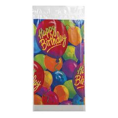 Скатерть полиэтилен, 140×260 см, «С днем рождения, шары»