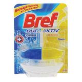 Освежитель WC (для туалета) жидкий, 50 мл, BREF (БРЕФ), Дуо-Актив «Лимон»