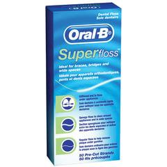 Зубная нить, 50 м, ORAL-B (Орал-Би), Super floss