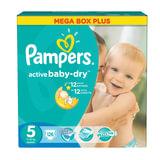 Подгузники 126 шт., PAMPERS (Памперс) Active Baby, размер 5 (11-18 кг)