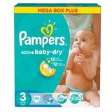 Подгузники 174 шт., PAMPERS (Памперс) Active Baby, размер 3 (5-9 кг)