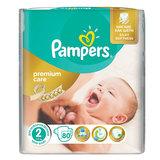 Подгузники 80 шт., PAMPERS (Памперс) Premium Care Mini, размер 2 (3-6 кг)