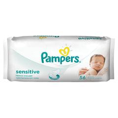 Салфетки влажные, 56 шт., PAMPERS (Памперс) «Sensitive», для нежного очищения