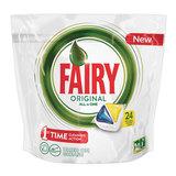 Средство для мытья посуды в посудомоечных машинах, 24 шт., FAIRY (Фейри) «All in 1 Лимон», капсулы