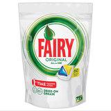 Средство для мытья посуды в посудомоечных машинах, 60 шт., FAIRY (Фейри) «All in 1 Лимон», капсулы