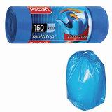 Мешки для мусора, 160 л, комплект 10 шт., рулон, ПВД, 90×125 см, 30 мкм, с ушками, синие, PACLAN «Multitop»