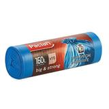 Мешки для мусора, 160 л, комплект 10 шт., рулон, ПВД, 120×87 см, 20 мкм, синие, PACLAN «Big&Strong»