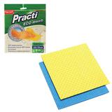 Салфетки губчатые, комплект 2 шт., 18×18 см, PACLAN «Practi», для влажной уборки