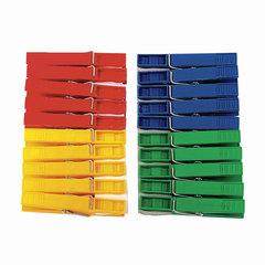 Прищепки бельевые пластиковые, комплект 20 шт., универсальные, цвет ассорти, YORK AZUR «Стандарт»