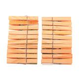 Прищепки бельевые деревянные, комплект 20 шт., универсальные, YORK AZUR «Эко»