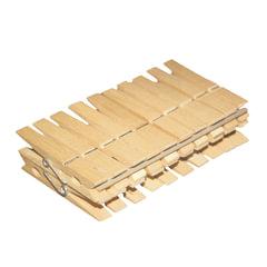 Прищепки бельевые деревянные, комплект 20 шт., универсальные, YORK «Eco»