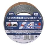 Клейкая лента алюминиевая 50 мм х 50 м, UNIBOB, морозостойкая, европодвес
