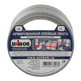 Клейкая лента армированная, 48 мм х 10 м, UNIBOB, основа-х/<wbr/>б ткань, прочная, европодвес