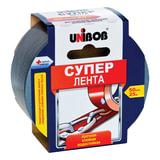 Клейкая лента армированная, 50 мм х 25 м, UNIBOB «Супер», универсальная, основа-полиэстер, подвес