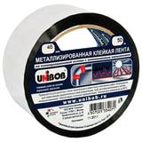 Клейкая лента металлизированная 48 мм х 50 м, UNIBOB, основа-ПП с алюминиевым напылением, подвес