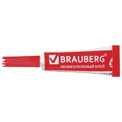 Клей моментальный (суперклей) BRAUBERG, прочный, 3 г, на ленте