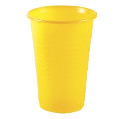 Одноразовый стакан, ЭКОНОМ, 200 мл, 1 шт., полипропилен (ПП), желтый, холодное/<wbr/>горячее, СТИРОЛПЛАСТ