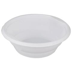 Одноразовая тарелка, 500 мл, 1 шт., суповая, полипропилен (ПП), белая, для холодных/<wbr/>горячих блюд, СТИРОЛПЛАСТ