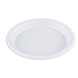 Одноразовая тарелка «Эконом», 1 шт., плоская, d — 165 мм, полистирол (ПС), белая, для холодных/<wbr/>горячих блюд, СТИРОЛПЛАСТ
