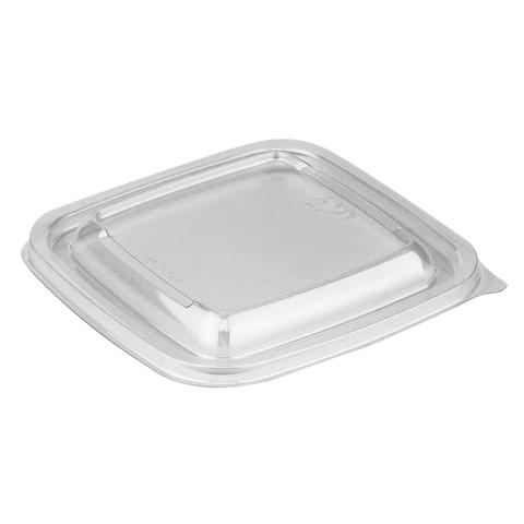 Крышка для контейнера Сп-1212 (604313; -14; -15; -16; -17; -18), 126х126х13 мм, ПЭТ, прозрачная, СТИРОЛПЛАСТ