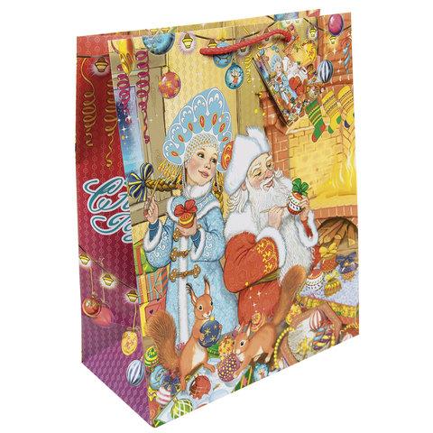 """Пакет подарочный ламинированный, 26х32,4х12,7 см, """"Внучка Деда Мороза"""""""