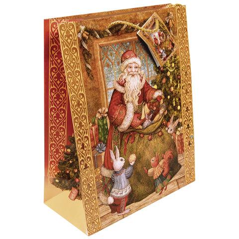 """Пакет подарочный ламинированный, 40,6х48,9х19 см, """"Мешок с подарками"""""""