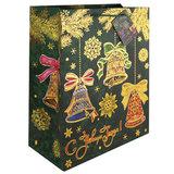 Пакет подарочный ламинированный, 26×32,4×12,7 см, «Елки», плотный, с тиснением