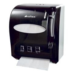 Диспенсер для полотенец в рулонах KSITEX, бесконтактный, с ручным обрезанием бумаги, черный, AC1-13
