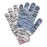 Перчатки хлопчатобумажные ЛАЙМА ПРОФИ, комплект 5 пар, ПВХ-точка, 7 класс, 60-62 г, 216т екс, меланж
