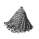 Насадка МОП веревочная для швабры, хлопок, ворс 24 см, 160 г, для влажной уборки, YORK «Zebra»